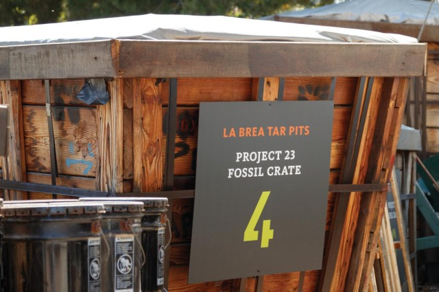 crate number 4 at the tar pits