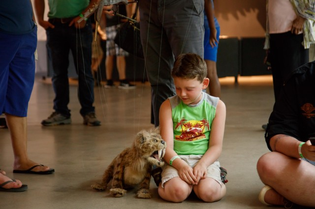 nibbles sabertooth cat puppet ice age meet and greet la brea tar pits and museum