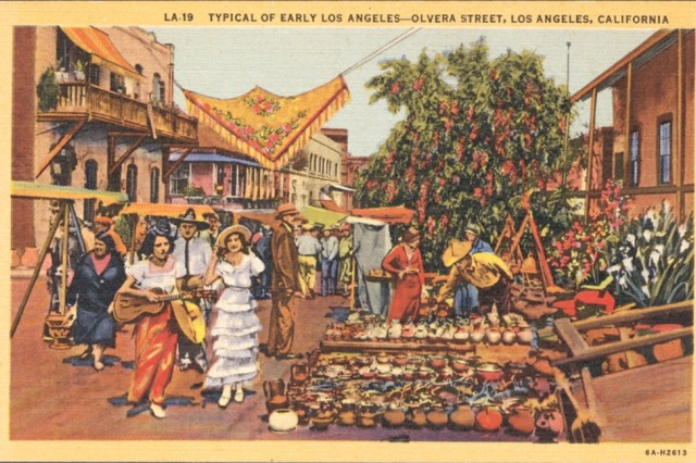 Olvera Street Illustration