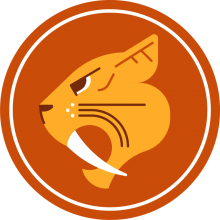 Icon of a saber-toothed cat to represent cats