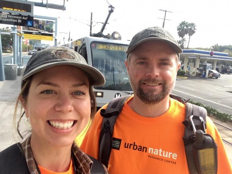 Bree Putman and Greg Pauly ride the metro