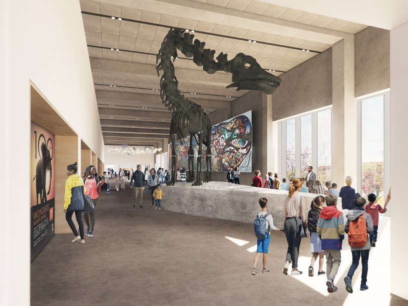 Interior of new Welcome Center at Center for Nature and Culture